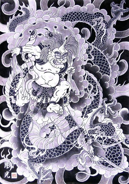 pictures of japanese gods | Fujin, 風神, Japanese God of the wind!