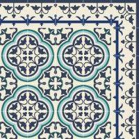 Tapis Vinyle - Portugal Blue - Beija Flor