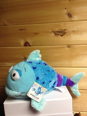 "Kohl's Cares Pout Pout Fish 16"" Plush Stuffed Blue Purple Big Lips New NWT 