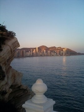 Benidorm, Spain at sunset