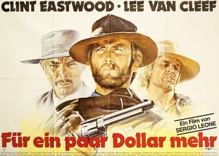 For a Few Dollars More R1980s German A0 Poster