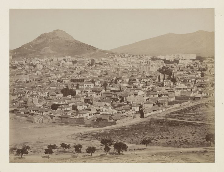 Vue générale de la ville d'Athènes, panorama, épreuve n°                     3/6 © Musée Guimet, Paris, Distr. Rmn / Image Guimet