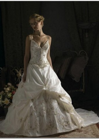 A beautiful wedding dress –