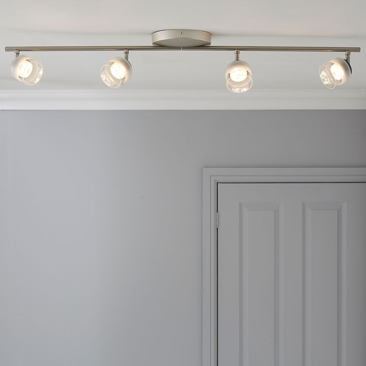 Philips Fremont Nickel Effect 4 Lamp Ceiling Spotlight | Departments | DIY at…