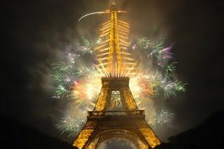 14 juillet 2012 à Paris : feu d'artifice