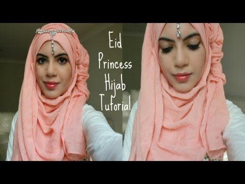 Eid Princess Hijab Tutorial - YouTube