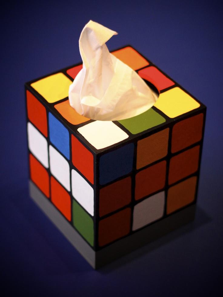 Rubik's Cube Tissue Box | Geek Gear | Pinterest