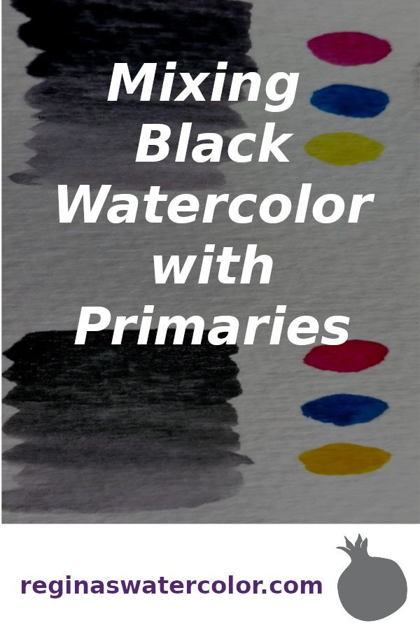 Blog Post About How To Make Black Watercolor For A More Vibrant