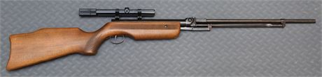Unusual Hungarian Model 70 air rifle in .177 in good to very good condition with Bushnell Scope Chief 4x scope