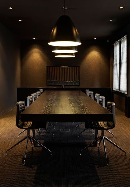 Meeting room - usually reserved for Primogen council and other larger gatherings when held at the club. There is a curtain along the lining of the door that must also be passed through, to prevent any sneaky obfuscations. Non-recording video is taken in all rooms and observed live by one of the sister's ghouls for security when anyone is at the club.