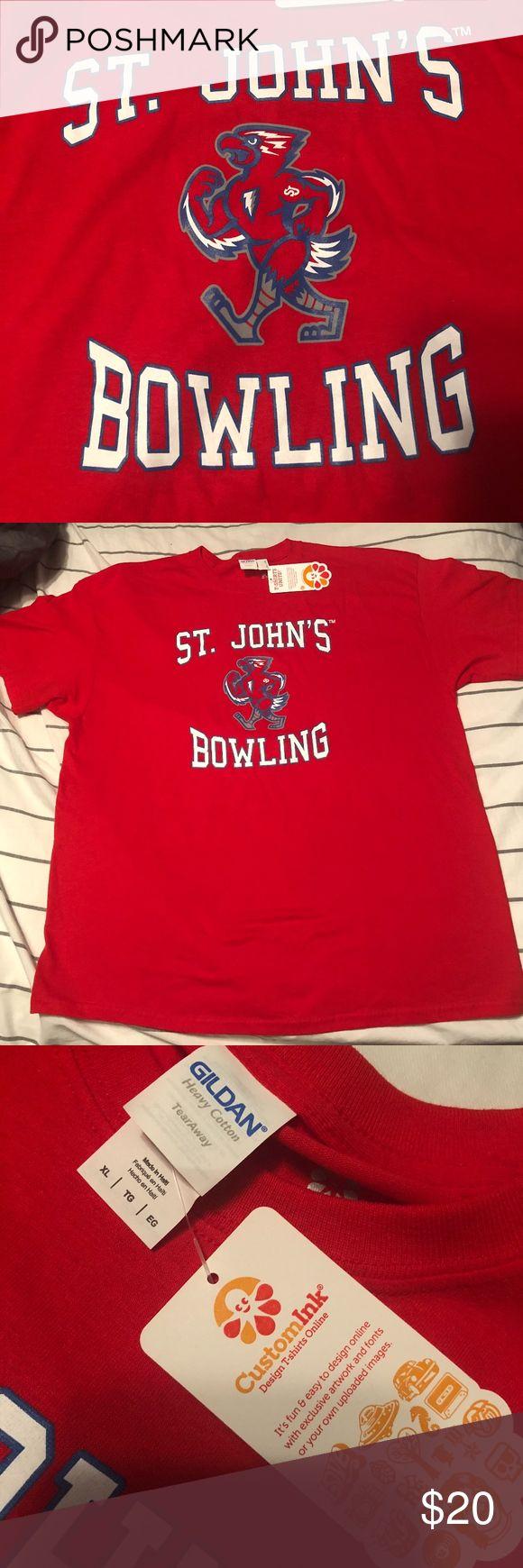 St. John's Univeristy Bowling Shirt Men's St. Johns University Bowling Shirt! Limited Edition. Gildan Shirts Tees - Short Sleeve #bowlingshirts