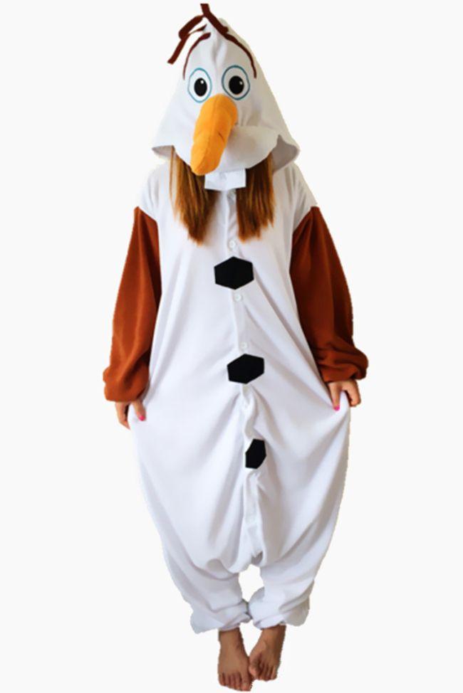 Frozen Olaf Onesie kigurumi Pajama For Adult