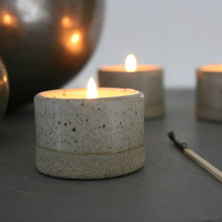 Stoneware Tea Light Holder
