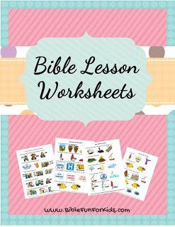 Worksheet Links @ Bible Fun For Kids
