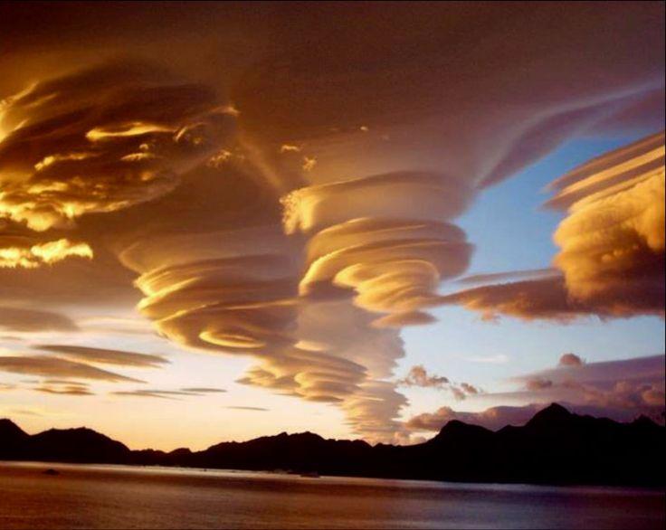 Spiral clouds in Southern Georgia.