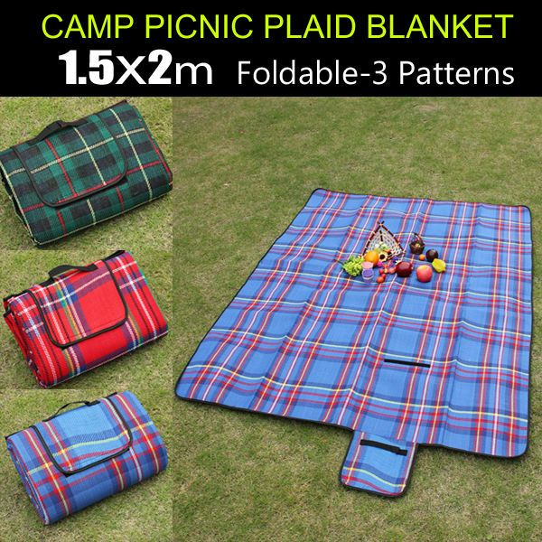 Outdoor Picnic Accessories | ... 15 0x200 cm Outdoor Beach Garden Yard Camping Mat Pad Picnic Blanket