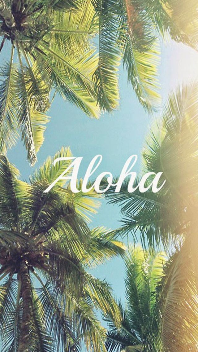 Aloha Palm Trees #iPhone #5s #wallpaper