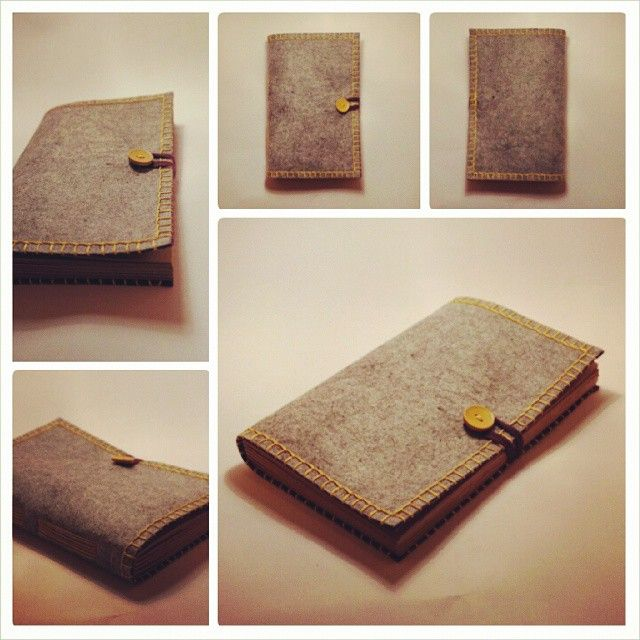 #de7tasarim #handmade #feltcover felt covered sketchbook  de7tasarim's photo on Instagram