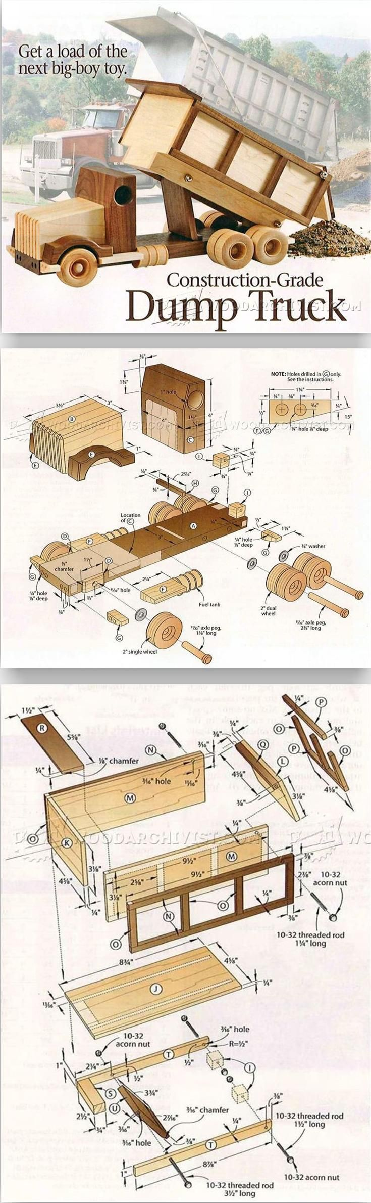 Wooden Truck Plans - Children's Wooden Toy Plans and Projects | WoodArchivist.com