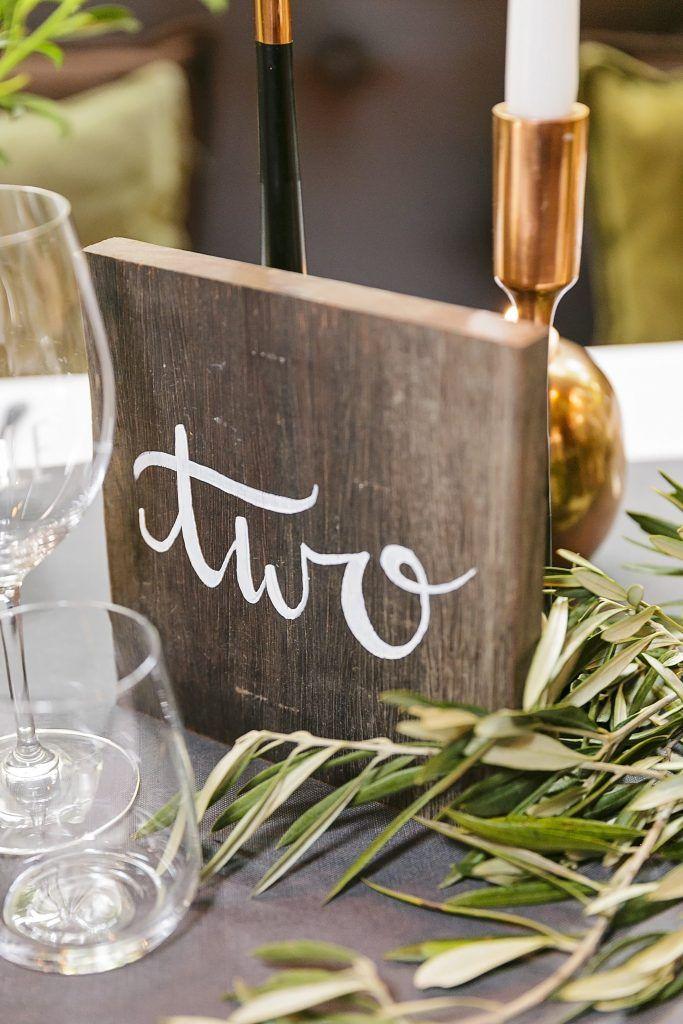 Painted Wooden Block Table Numbers- Lovebird Weddings, Noosa Australia