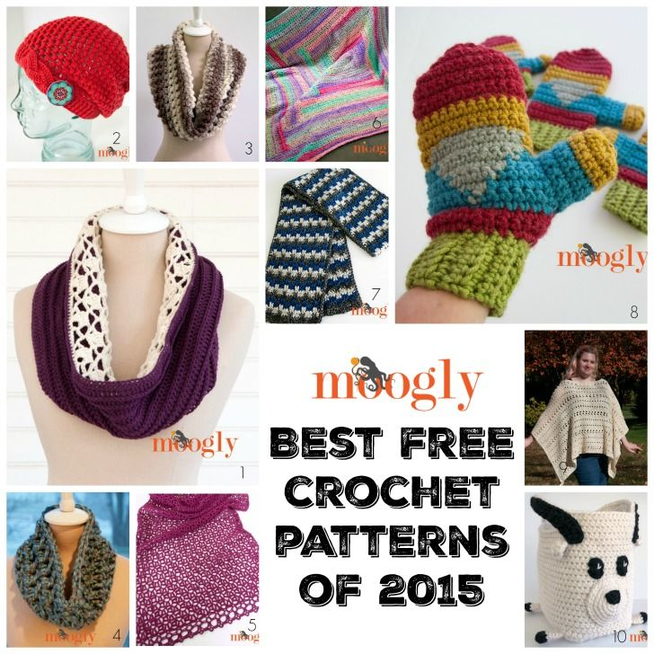 Check out 10 of the Best Mooglyblog.com FREE crochet patterns from 2015!: