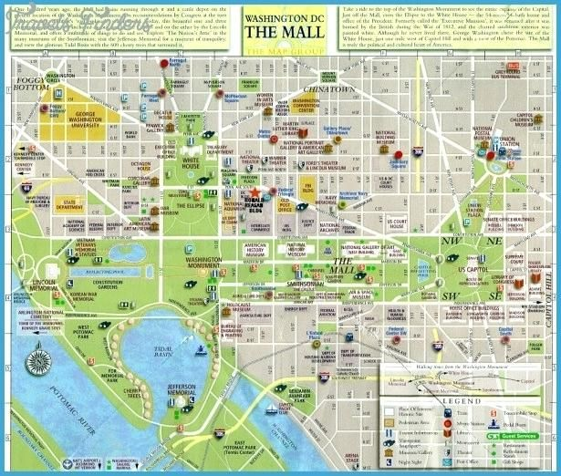 Washington Dcdc Subway Map.Printable Walking Map Of Washington Dc Dc Top Tourist Attractions