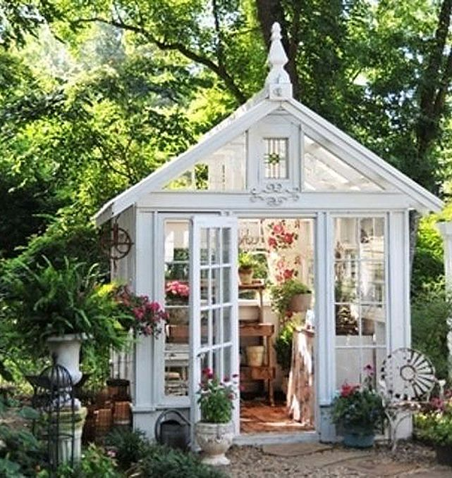 This She Shed elevates greenhouse gardening and potting to an almost-religious experience.