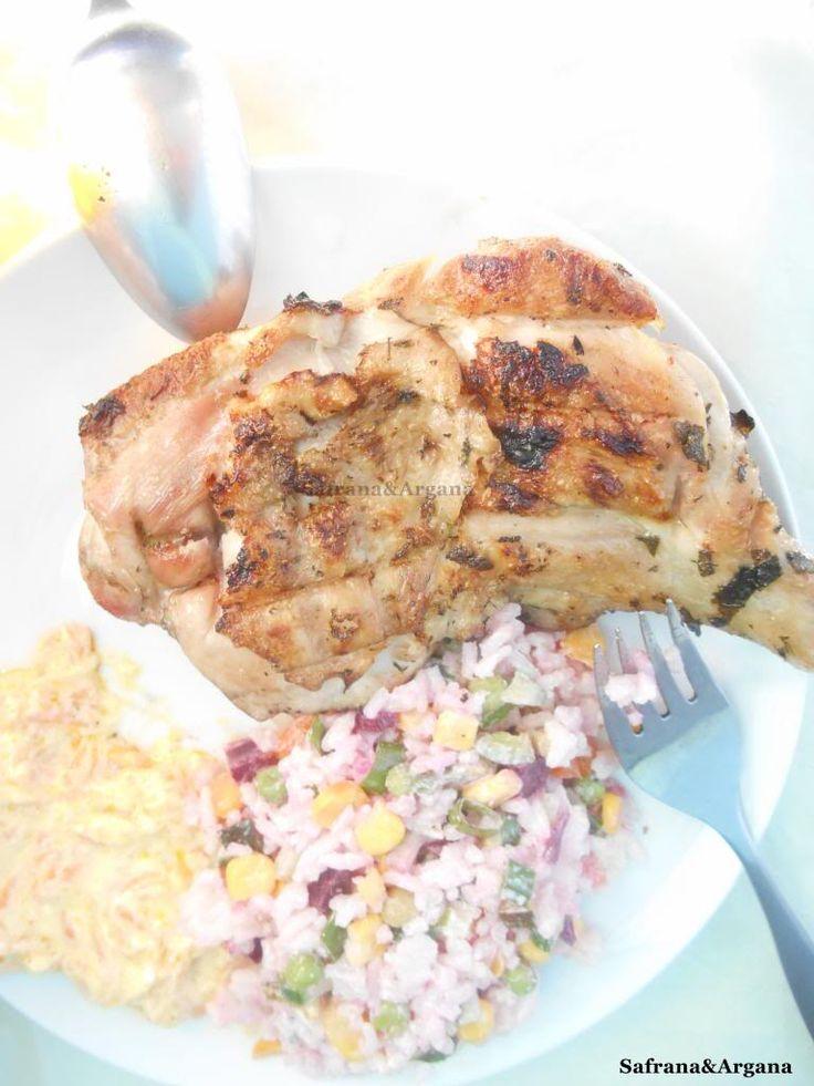 Safrana Argana: Gekruide kip met citroen van de barbecue