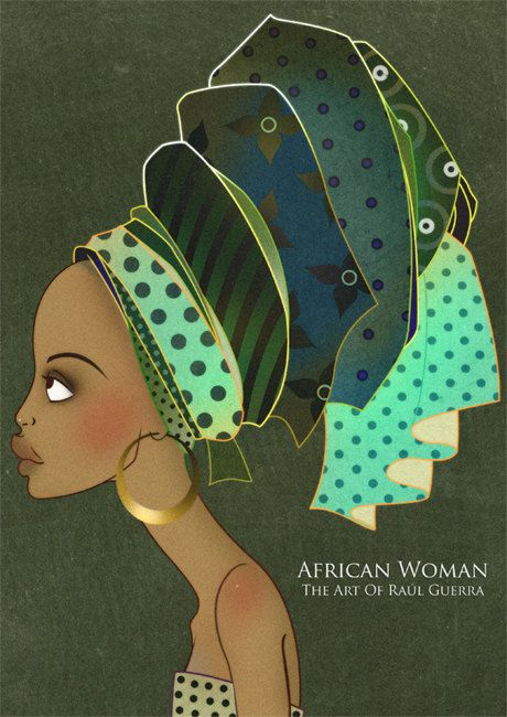 African Woman IV Vintage Edition - The Art of Raul Guerra