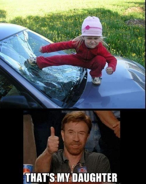imagine if chuck norris had a daughter #funny