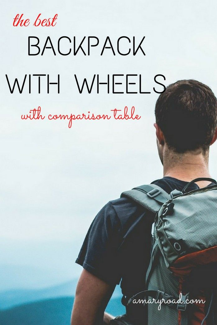 2018 Best Wheeled Backpack Rucksack With Wheels For Travelling