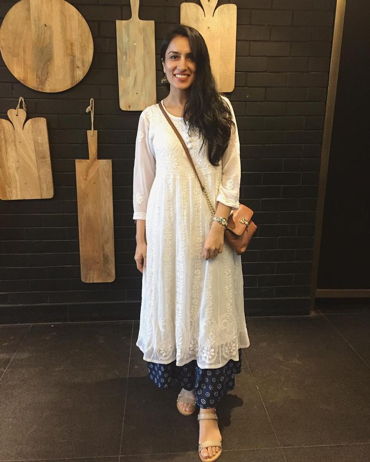130 Best White Kurti Images On Pinterest | Indian Clothes Indian Outfits And Eid