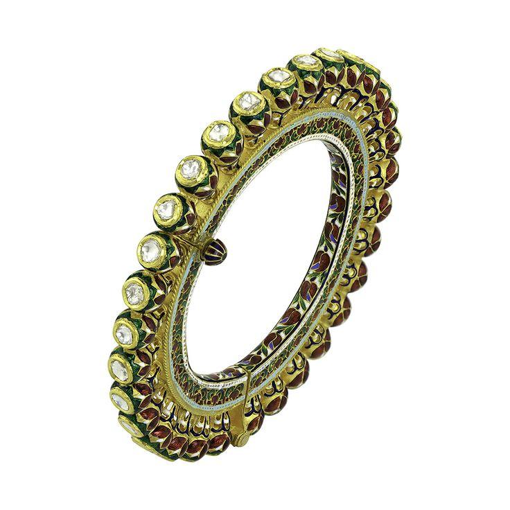 Kundan Meenakari Bangles   Devam Jewelry