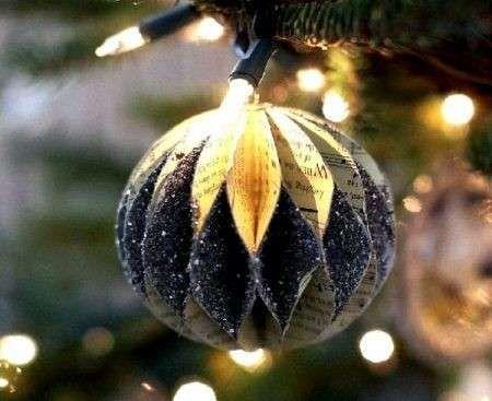 Decorazioni di carta per l'albero di Natale - Pallina ornamentale albero di Natale