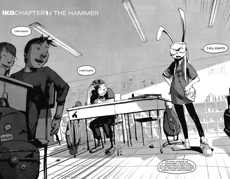 Page 9-10, Chapter 1 - I Kill Giants comic