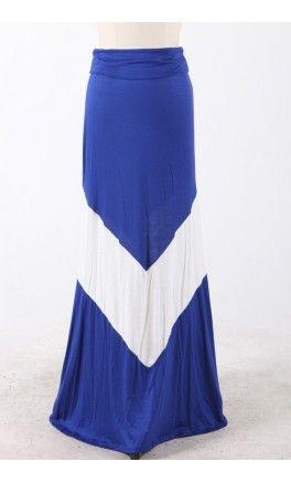 Modest Skirts: Long a-line maxi skirt with bold chevron print! - Apostolic Clothing #chevron #skirts