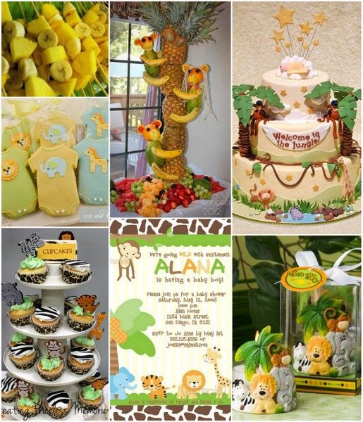 Jungle baby shower ideas from babyshower for Baby shower decoration safari