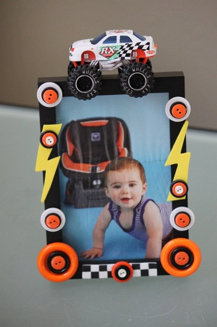 Toy Monster Truck Frame By ButtonzNframz On Etsy, $13.00