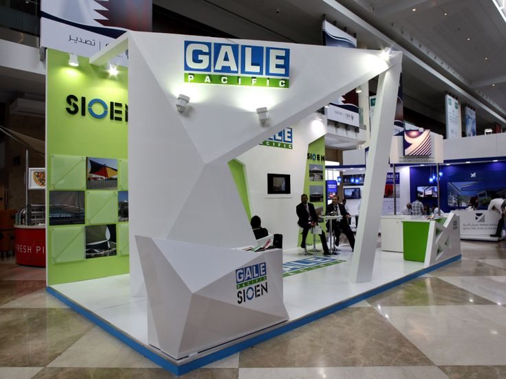 Gale pacific exhibition stand designed and produced by for International decor dubai