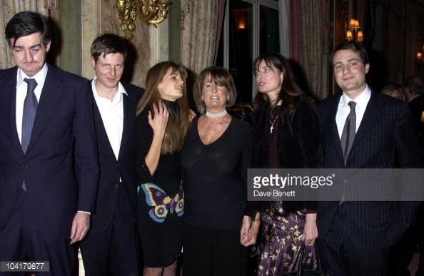 Jemima goldsmith with her family