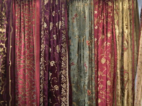 Antique Silk Velvet Curtains