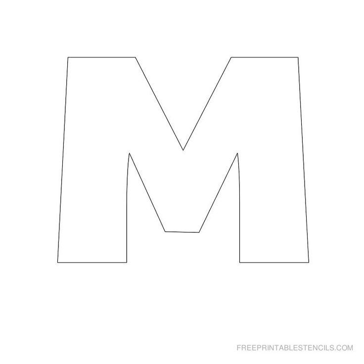 Big Letter Printable Stencils A to Z | Free Printable Stencils Com