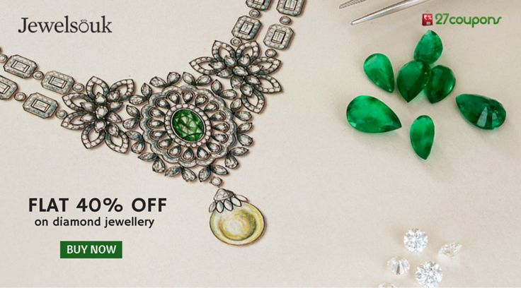 Shop more & save more - Flat 40% off on ‪#‎diamond‬ ‪#‎jewellery‬ only at @Jewelsouk.com ‪#‎ecommerce‬ http://27c.in/VnlFx For more #offers #coupons #discountcoupons #couponcodes #promocode on #jewelleries #fashionaccessories #fashion #jewellery kindly visit 27coupons.com
