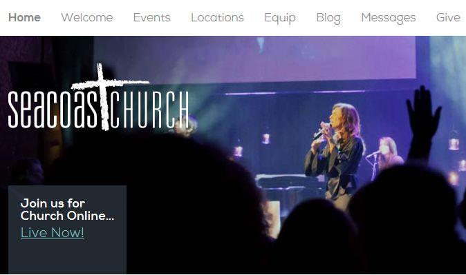 Charleston, South Carolina Church Directory and Travel Guide featuring Seacoast Church.