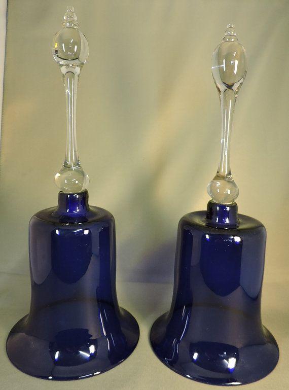 Coppia di vittoriano blu cobalto mano di OldeWorldeAntiques