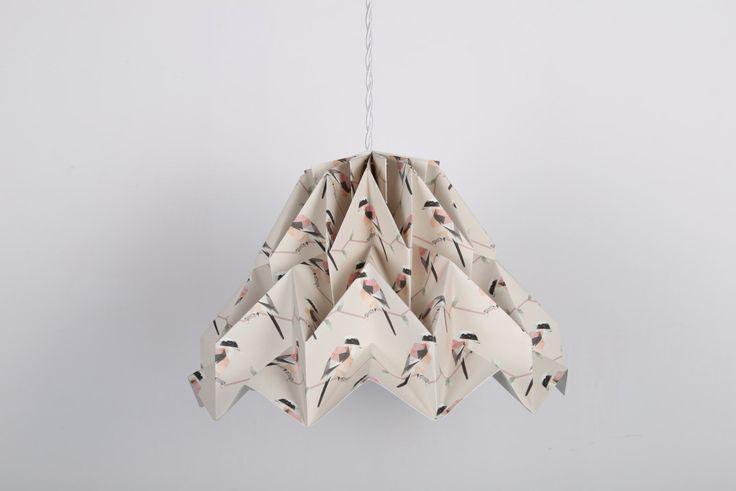 lampadario origami : ... listing/498848003/paralume-fuji-birds-lampadario-origami origami lamp