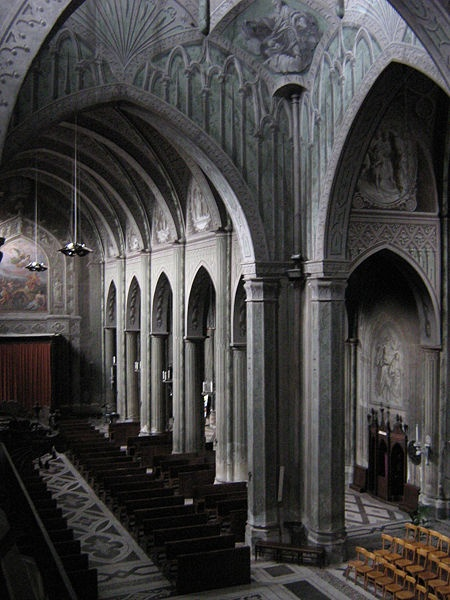 the Cathedral in Biella, Italy is a masterpiece of trompe l'oeil.