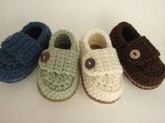 zapatitos de bebe tejidos paso a paso en español - Buscar con Google