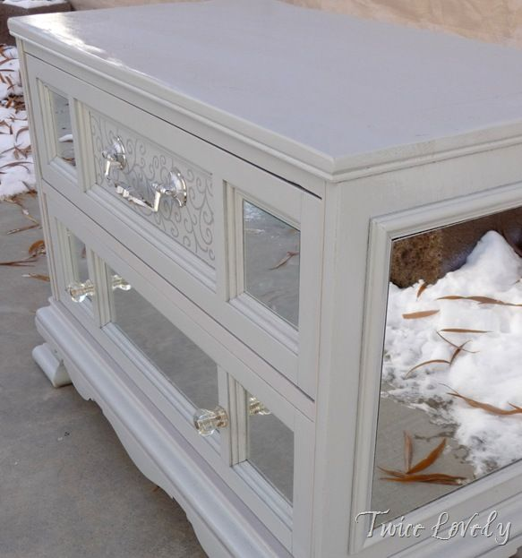 Diy Mirror Tv Cabinet: 93 Best Images About DIY Mirrored Furniture On Pinterest