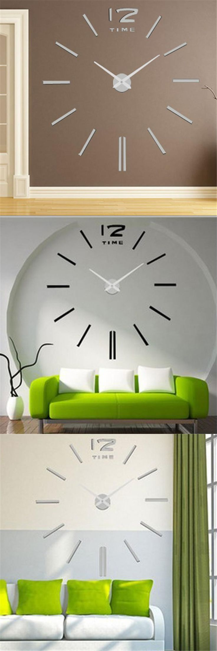 Best 25 large decorative wall clocks ideas on pinterest large modern design big wall clock large decorative wall clocks home decor acrylic watch quartz movement creative amipublicfo Image collections